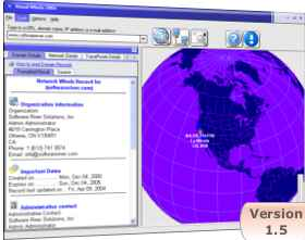 Visual WhoIs 2004 - perform visual trace route, find server locations and much more.